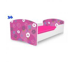 Pinokio Deluxe Rainbow Květinky 36  dětská postel