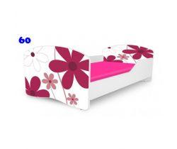 Pinokio Deluxe Rainbow Květinky 60 dětská postel