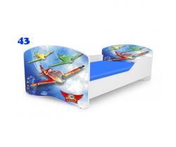 Pinokio Deluxe Rainbow Letadla 43 dětská postel