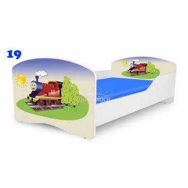 Dětská postel Pinokio Deluxe Rainbow Mašinka 19