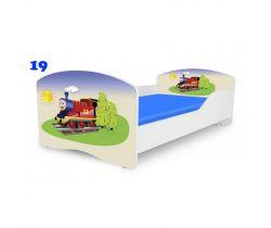 Pinokio Deluxe Rainbow Mašinka 19  dětská postel