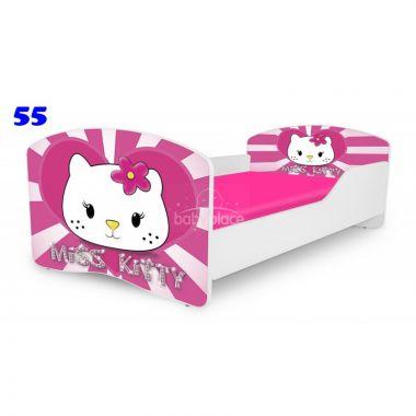 Dětská postel Pinokio Deluxe Rainbow Miss Kitty 55