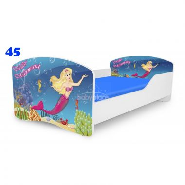 Dětská postel Pinokio Deluxe Rainbow Mořská panna 45