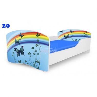 Dětská postel Pinokio Deluxe Rainbow Motýli 20