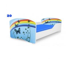 Pinokio Deluxe Rainbow Motýli 20 dětská postel