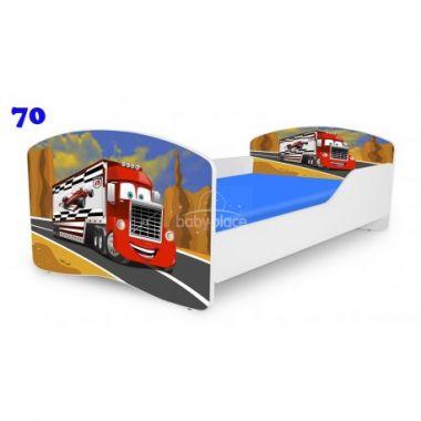 Dětská postel Pinokio Deluxe Rainbow Nákladní auto 70