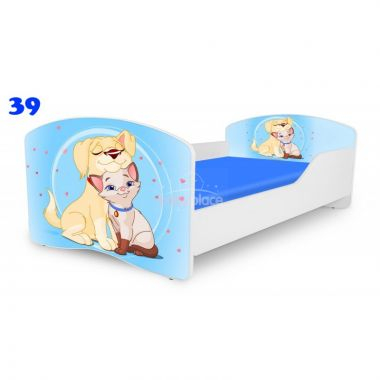 Dětská postel Pinokio Deluxe Rainbow Pejsek a kočíčka 39