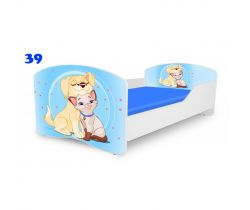 Pinokio Deluxe Rainbow Pejsek a kočíčka 39 dětská postel