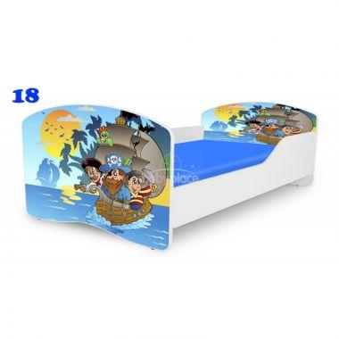 Dětská postel Pinokio Deluxe Rainbow Piráti 18