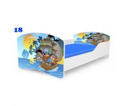 Pinokio Deluxe Rainbow Piráti 18  dětská postel