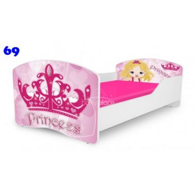 Dětská postel Pinokio Deluxe Rainbow Princess 69