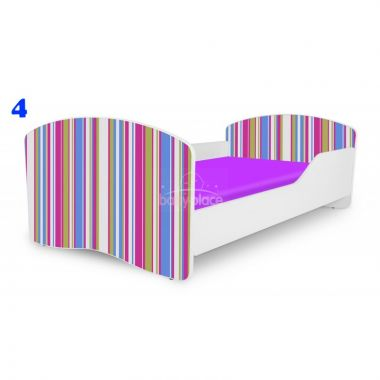 Pinokio Deluxe Rainbow Pruhy 4  dětská postel