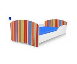 Pinokio Deluxe Rainbow Pruhy 5 dětská postel