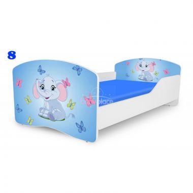 Dětská postel Pinokio Deluxe Rainbow Slon 8
