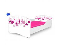 Pinokio Deluxe Rainbow Srdce 49  dětská postel