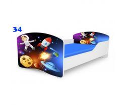 Pinokio Deluxe Rainbow Vesmír 34  dětská postel