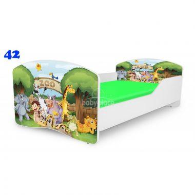 Pinokio Deluxe Rainbow ZOO 42  dětská postel