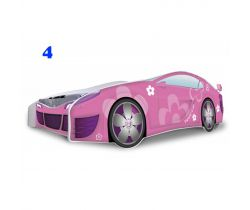 Pinokio Deluxe Růžové auto dětská postel