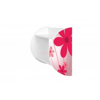 Květinky 1 polička Pinokio Deluxe Růžové