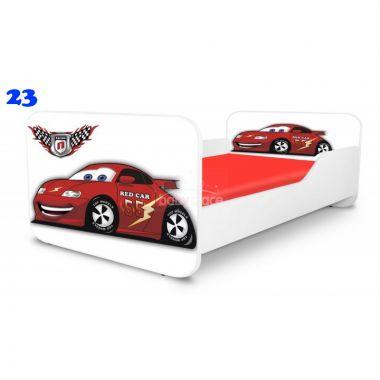 Dětská postel Pinokio Deluxe Square Auta 23