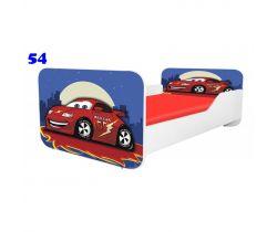 Pinokio Deluxe Square Auto 54 dětská postel