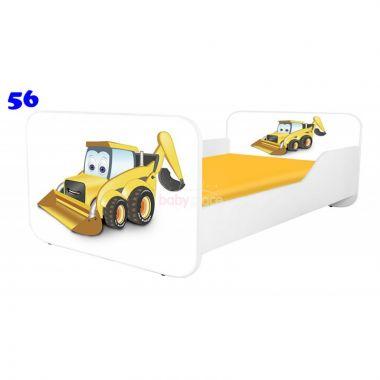 Dětská postel Pinokio Deluxe Square Bagr 56