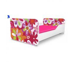Dětská postel Pinokio Deluxe Square Barevné květinky 3