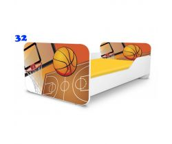 Pinokio Deluxe Square Basketbal 32 dětská postel