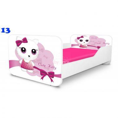 Dětská postel Pinokio Deluxe Square Cute Kitty 13