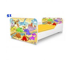 Dětská postel Pinokio Deluxe Square Dinosauři 51