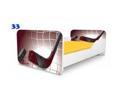 Pinokio Deluxe Square Hokej 33 dětská postel