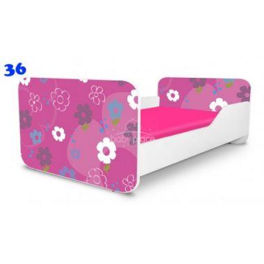 Dětská postel Pinokio Deluxe Square Květinky 36