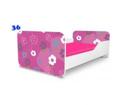 Pinokio Deluxe Square Květinky 36 dětská postel
