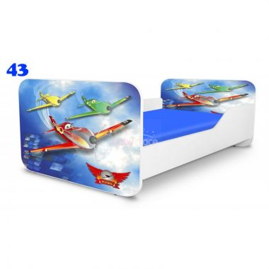 Dětská postel Pinokio Deluxe Square Letadla 43