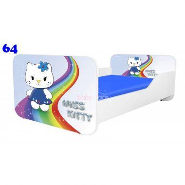 Dětská postel Pinokio Deluxe Square Miss Kitty 64