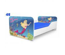 Pinokio Deluxe Square Mořská panna 45 dětská postel