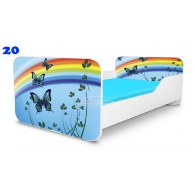 Dětská postel Pinokio Deluxe Square Motýli 20