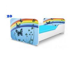 Pinokio Deluxe Square Motýli 20 dětská postel