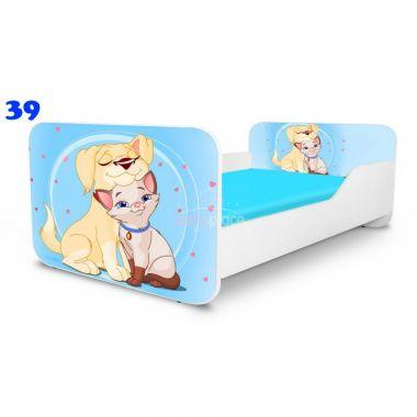 Dětská postel Pinokio Deluxe Square Pejsek a kočička 39