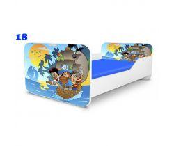 Pinokio Deluxe Square Piráti 18 dětská postel
