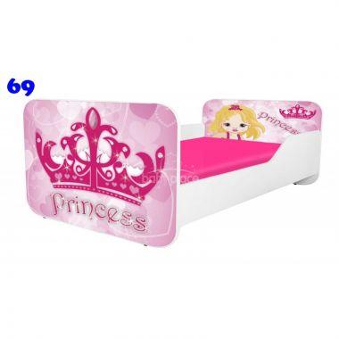 Dětská postel Pinokio Deluxe Square Princess 69