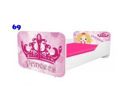 Pinokio Deluxe Square Princess 69 dětská postel
