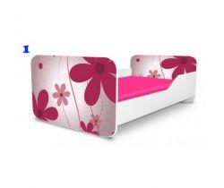 Pinokio Deluxe Square Růžové květinky 1 dětská postel