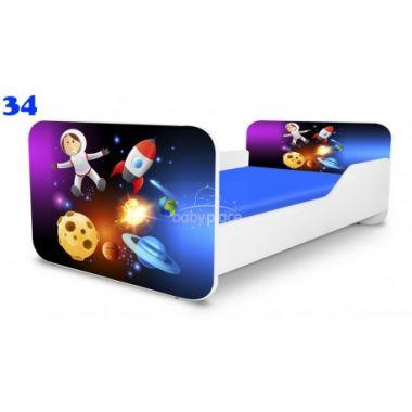 Pinokio Deluxe Square Vesmír 34 dětská postel