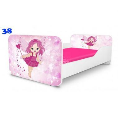 Dětská postel Pinokio Deluxe Square Víla 38