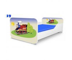 Dětská postel Pinokio Deluxe Square Vláček 19
