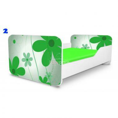 Dětská postel Pinokio Deluxe Square Zelené květinky 2