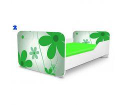 Pinokio Deluxe Square Zelené květinky 2 dětská postel