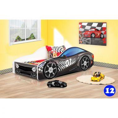 Dětská postel NEW Pinokio Deluxe Závodní auto 12