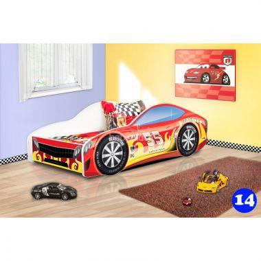 Dětská postel NEW Pinokio Deluxe Závodní auto 14